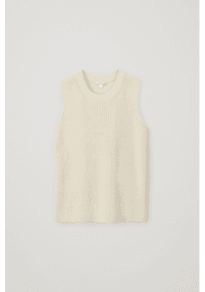 KNITTED COTTON-MIX VEST TOP