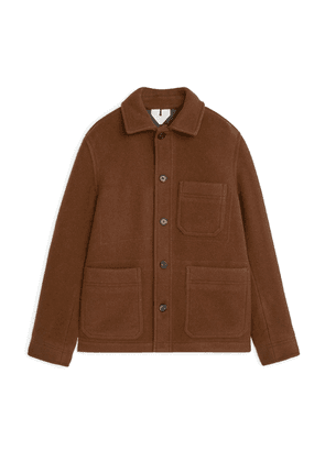Wool Workwear Jacket - Beige