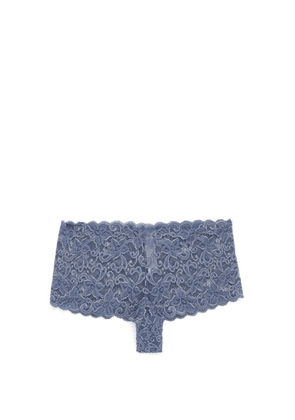 Hanro - Moments Floral-lace Briefs - Womens - Blue