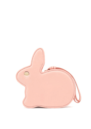 Hillier Bartley - Bunny Leather Clutch - Womens - Pink