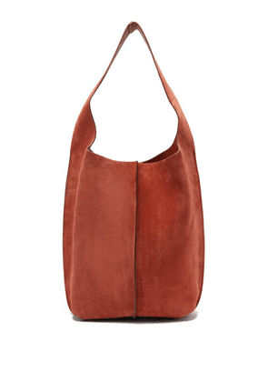 Acne Studios - Topstitched-suede Shoulder Bag And Pouch - Womens - Tan