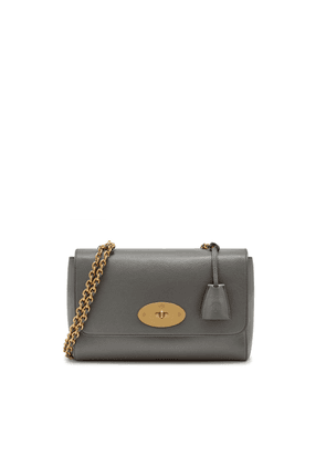 Mulberry Medium Lily in Charcoal Small Classic Grain