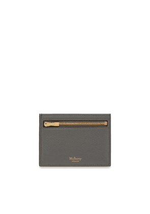 Mulberry Zipped Credit Card Slip in Charcoal Small Classic Grain