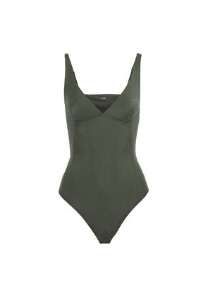 Alix Nyc Classon Stretch-jersey Thong Bodysuit Woman Grey green Size M