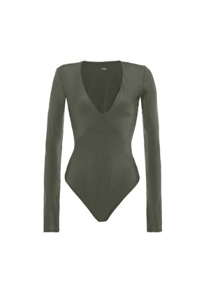 Alix Nyc Irving Stretch-jersey Bodysuit Woman Army green Size M
