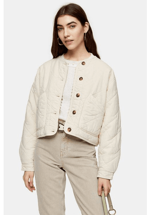 Womens Sand Lightweight Quilted Jacket - Sand, Sand