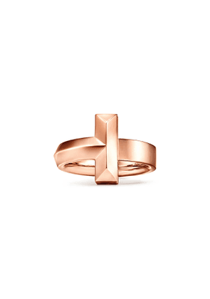 Tiffany T T1 wide ring in 18k rose gold, 4.5 mm wide - Size 5