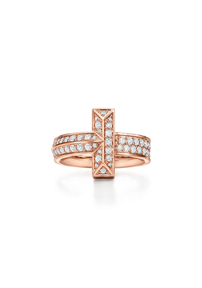 Tiffany T T1 wide diamond ring in 18k rose gold - Size 8 1/2