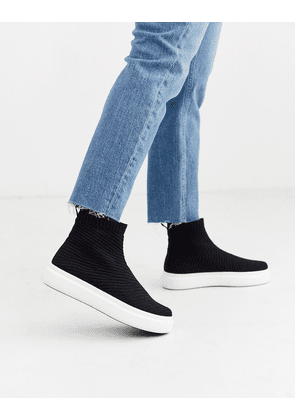 ASOS DESIGN Dublin knitted trainers in black