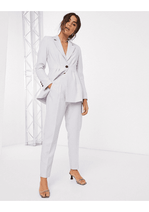 ASOS DESIGN tapered suit trousers-Purple