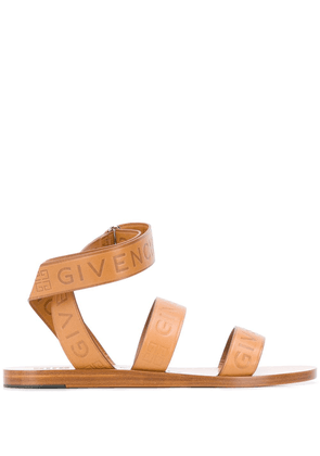 Givenchy logo strap sandals - Brown