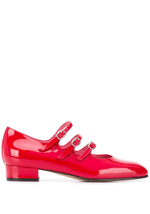 Carel Ariana 25mm flat pumps - Red