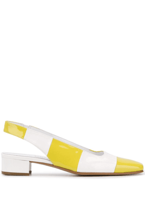 Carel chequered slingback pumps - White