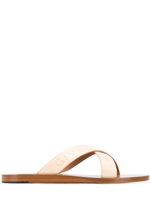 Givenchy logo strap sandals - NEUTRALS