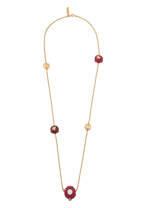 Marni enamelled metal necklace - GOLD