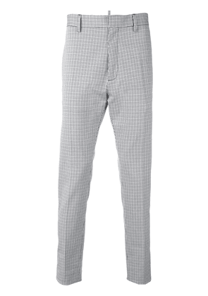 Dsquared2 tailored check print trousers - Black