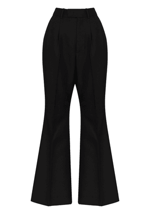 Gucci red label flared trousers - Black