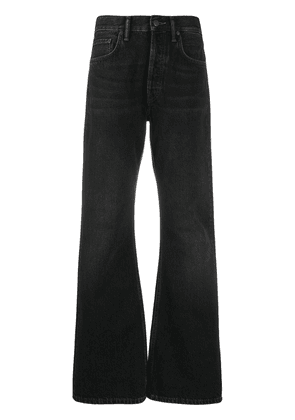 Acne Studios mid rise flared jeans - Black