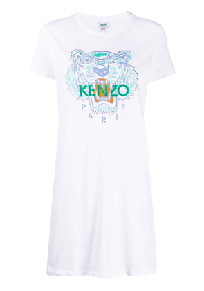 Kenzo Tiger embroidered T-shirt dress - White