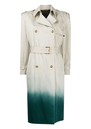 Versace dip-dye trench coat - NEUTRALS
