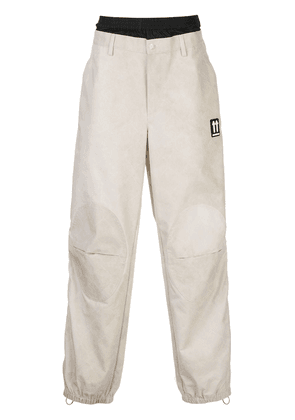 Off-White wide-leg trousers - NEUTRALS