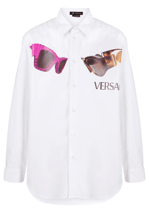 Versace sunglasses print shirt - White