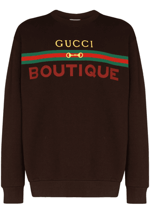 Gucci Boutique logo sweater - Brown