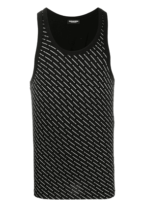 Dsquared2 all-over logo tank top - Black
