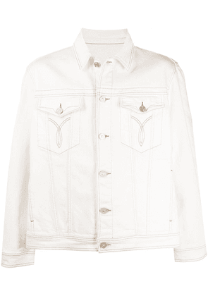Versace Parfum Couture print denim jacket - White