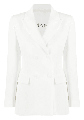 Ermanno Ermanno double-breasted fitted blazer - White