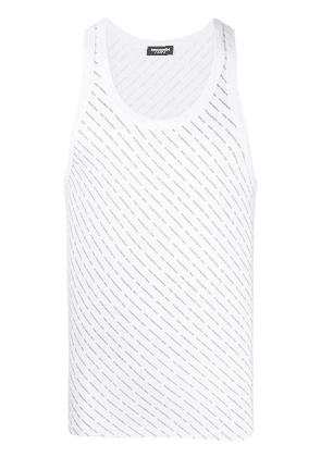 Dsquared2 all-over logo tank top - White
