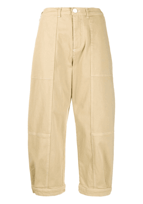 See by Chloé cropped wide trousers - NEUTRALS
