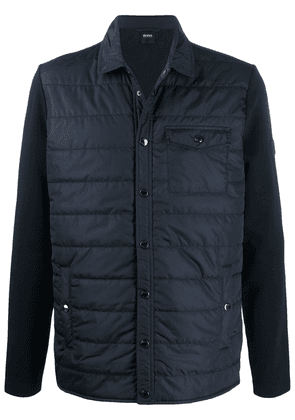 BOSS panelled puffer jacket - Blue