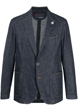 Lardini single-breasted fitted blazer - Blue