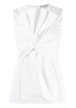 Givenchy sleeveless oversized bow top - White