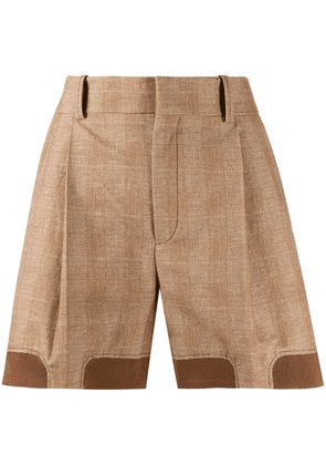 Chloé checked shorts - NEUTRALS