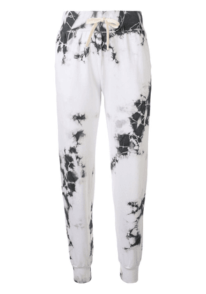 ELECTRIC & ROSE Parker tie dye track pants - White