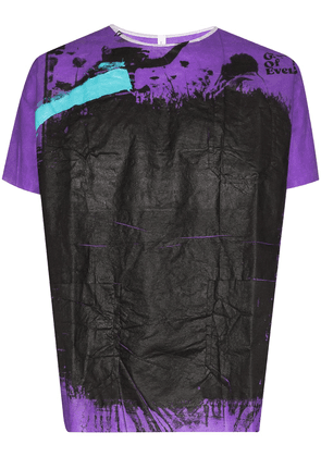 Raf Simons hand-painted T-shirt - PURPLE
