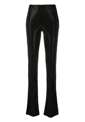 Versace embellished flared trousers - Black