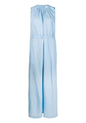 Christian Wijnants belted crepe gown - Blue