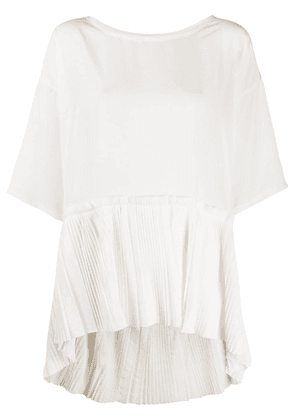 P.A.R.O.S.H. pleated panel blouse - White