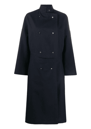 Loewe double-breasted mid-length coat - Blue