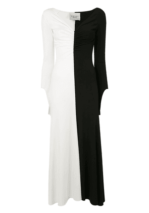 A.W.A.K.E. Mode ruched-detail fluted dress - Black