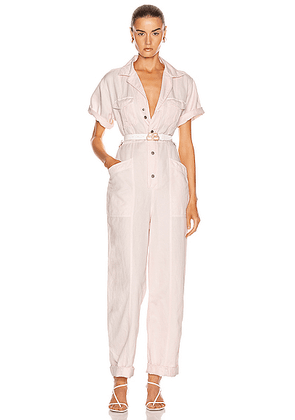 A.L.C. Petra Jumpsuit in Morganite - Pink. Size 0 (also in 2,4,6,8).