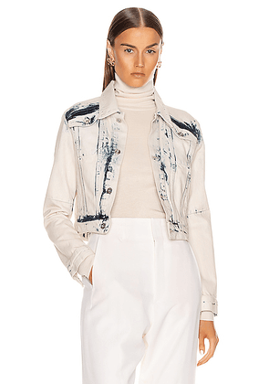 Proenza Schouler White Label Cropped Jacket in Bleach Out - Denim Light. Size M (also in S,XS).