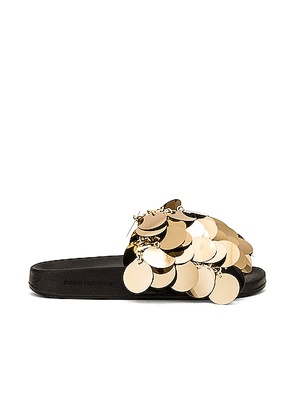 PACO RABANNE Sparkle Sandal in Light Gold - Metallic Gold. Size 36 (also in 38,39,40,41).