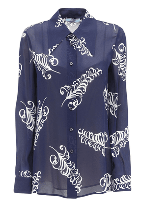 Feather Print Crepe Sable Shirt