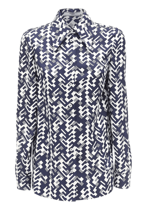 Geometric Printed Silk Twill Shirt