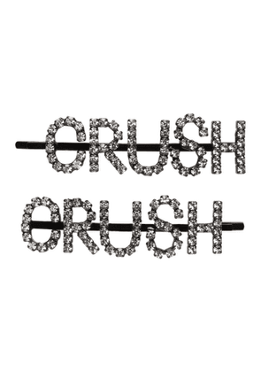 Ashley Williams Black and Transparent Crush Hair Clip Set