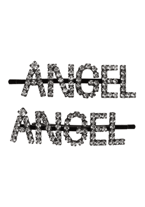 Ashley Williams Black and Transparent Angel Hair Clip Set